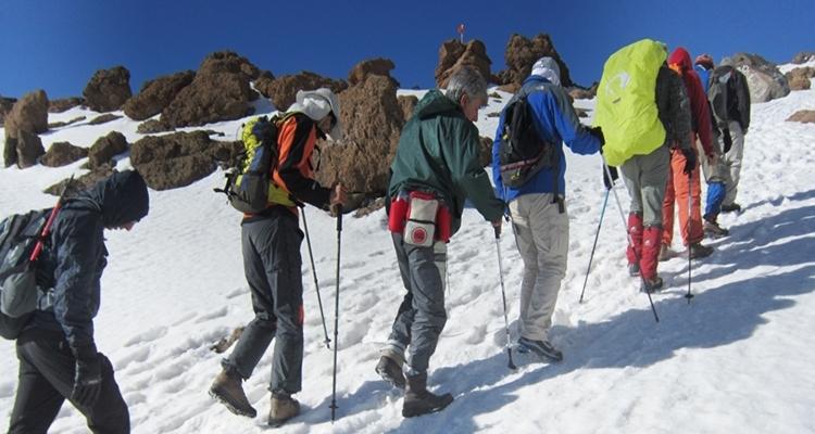 Bergsteiger Damavand - Iran